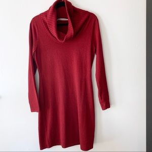 Athleta Merino Wool Cowl Neck Sweater Dress